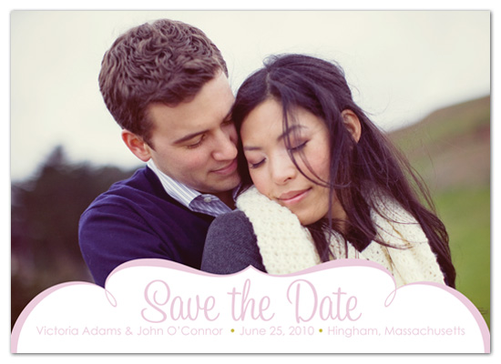 save the date cards - Framed In Love by Pink Snail Stationery
