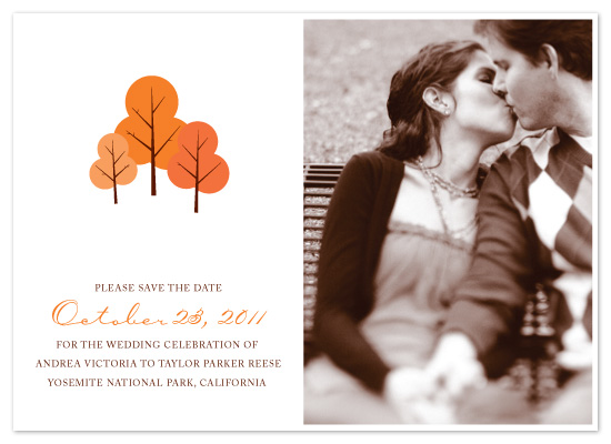 save the date cards - Fall In Love by Hoang Huynh