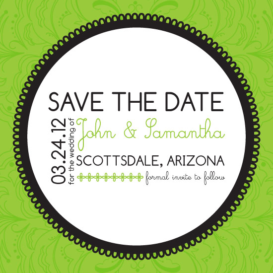 save the date cards - Vintage Pop Wedding by Edub Graphic Design