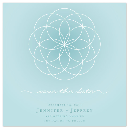 save the date cards - Circle the Date by Hoang Huynh