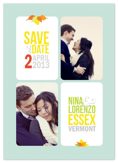 save the date cards - Windowpanes by GZ