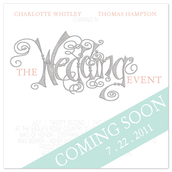 save the date cards - The Event of the Year by www.project1128.com