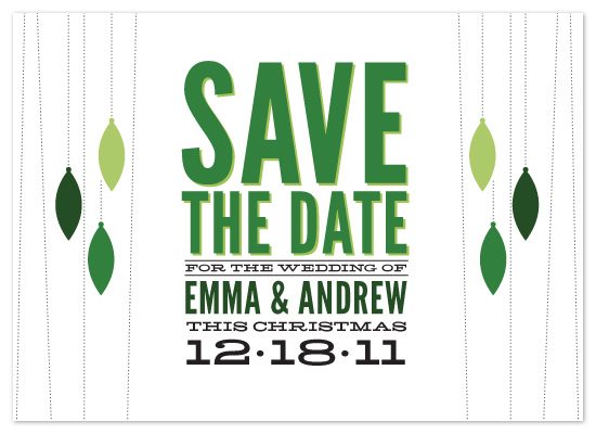 save the date cards - Holiday Wedding by Jillian Van Weelden