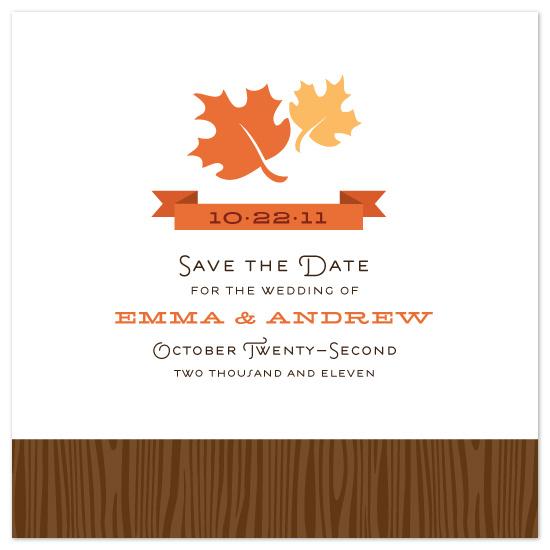 save the date cards - Autumnal by Jillian Van Weelden