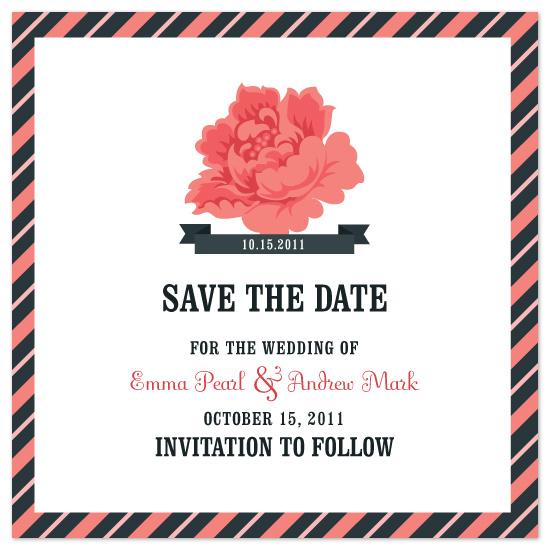 save the date cards - The Rose by Jillian Van Weelden