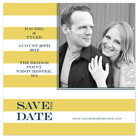 save the date cards - Chic Stripe by Audrey Ma