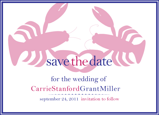 save the date cards - Lovely Lobster by Preppy Paperie