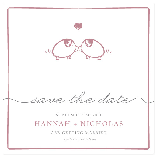 save the date cards - Squiggles Love by Hoang Huynh
