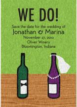 Wine Bottles Wed by Custom Printables