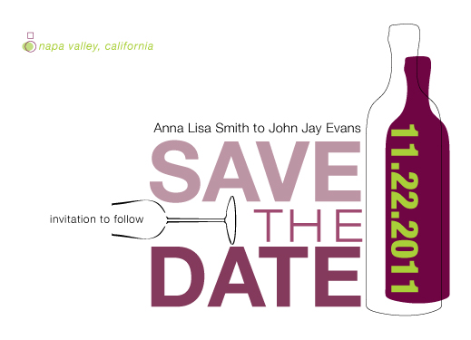 save the date cards - Drink in the Love by Saltwater Between