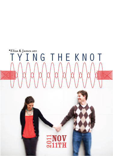 save the date cards - Modern Tying the Knot by Saltwater Between