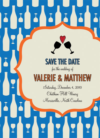 save the date cards - Pattern Party by Custom Printables