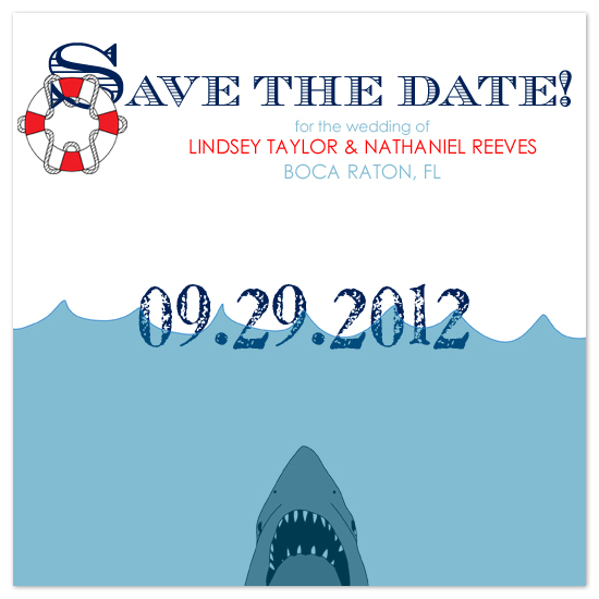 save the date cards - Rescue the Date by Scriptiva Paper