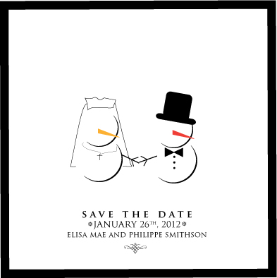 save the date cards - Baby it's Cold Outside by Saltwater Between