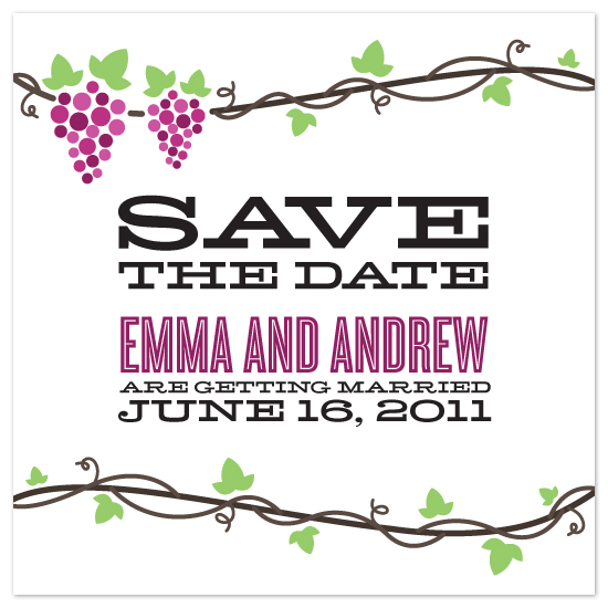 save the date cards - Grapevine by Jillian Van Weelden