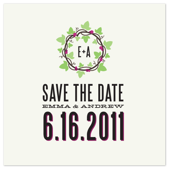 save the date cards - Circle of Vines by Jillian Van Weelden