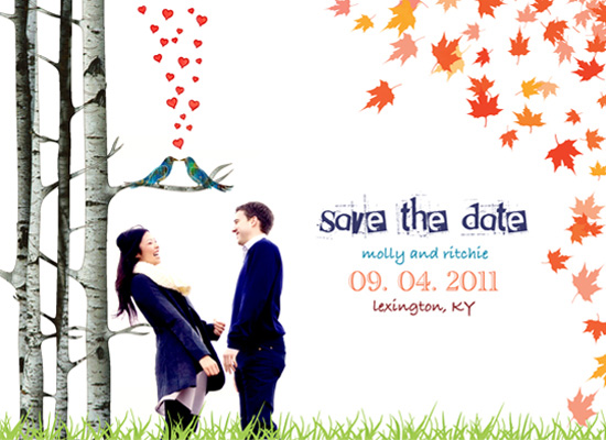 save the date cards - FALL in love  by Cheryl Nachbauer