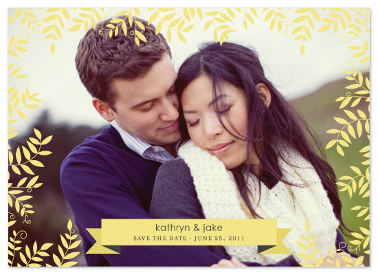 save the date cards - Leaves & Banner by Kelsey Premo Jones