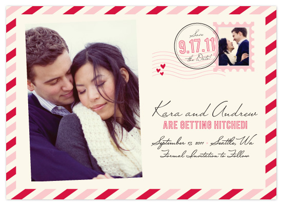 save the date cards - a little love post by Katie Leggitt