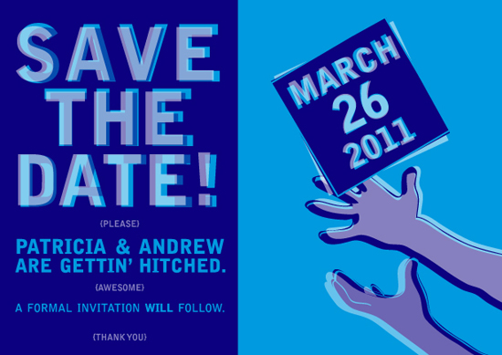 save the date cards - Diving Save by Quinn Peyser