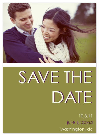 save the date cards - Fall Forward  by Kathleen Burlew