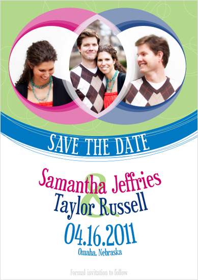 save the date cards - Vendiagram by Quinn Peyser