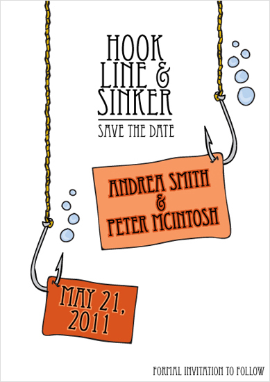 save the date cards - Hook, Line, and Sinker by Quinn Peyser