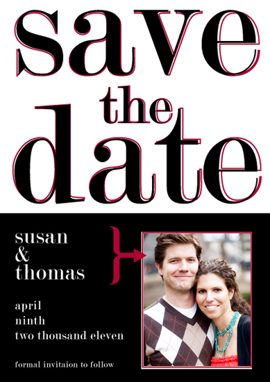save the date cards - Stark Invite by Quinn Peyser