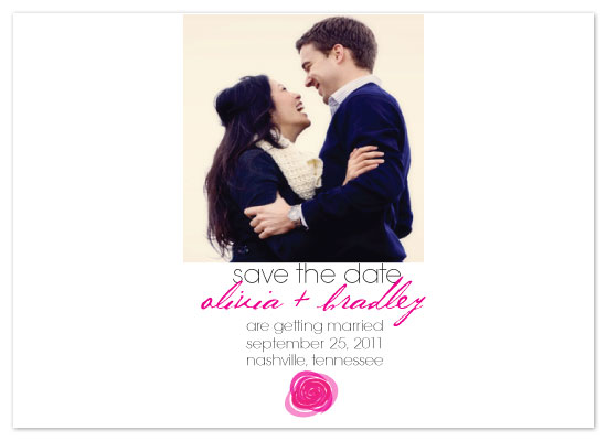 save the date cards - Rose by any other name by Rock Candy