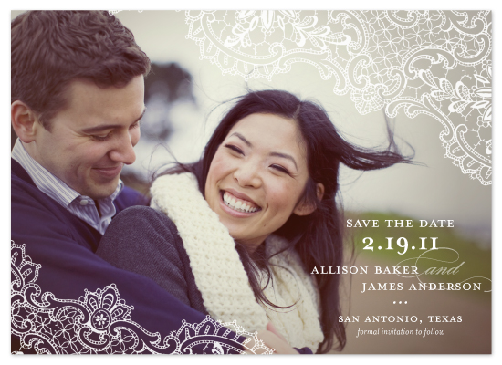 save the date cards - Lace by Lauren Chism