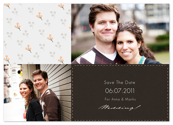 save the date cards - Modern Print  by vinnie pearce