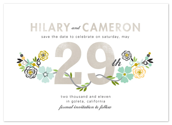 save the date cards - Floral Date by Alethea and Ruth