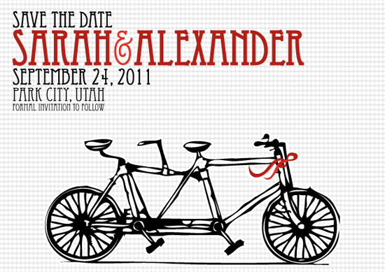 save the date cards - In tandem by Quinn Peyser