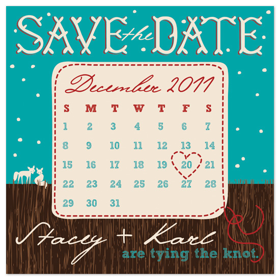 save the date cards - Foxy Stitches by bexcentric