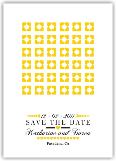 save the date cards - Playful at Heart by Fresh Cut Designs