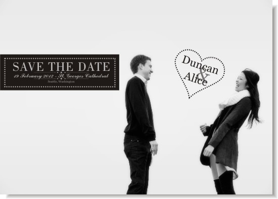 save the date cards - A Simple Truth by Fresh Cut Designs
