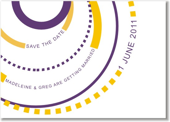save the date cards - Circle the date by Fresh Cut Designs