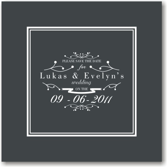 save the date cards - Filigree Wedding by Fresh Cut Designs