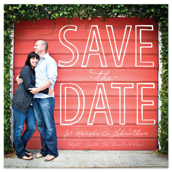 save the date cards - Sketched Love by Chelsea Marsh