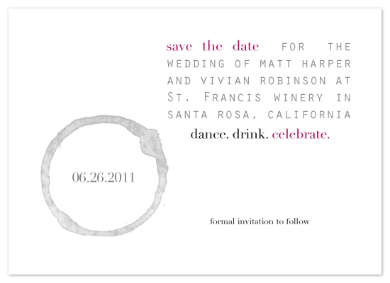 save the date cards - Overflow  by tucker-halm design
