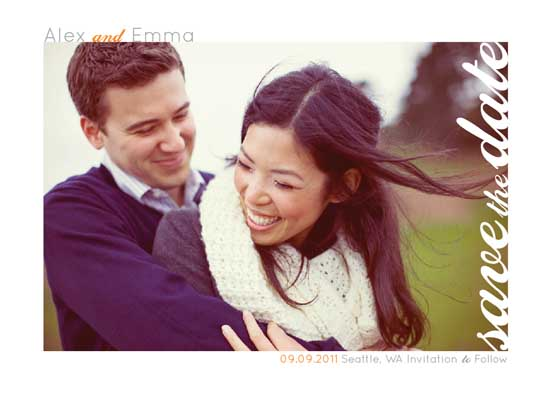 save the date cards - Mr & Mrs Autumn Love by la Happy
