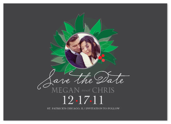 save the date cards - Holly Jolly Proposal by Julia