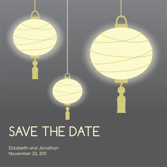 save the date cards - Glowing At Dusk by Dream Tree Design