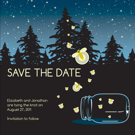 save the date cards - Fire Flies in the Sky by Dream Tree Design