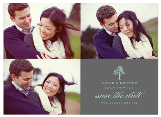 save the date cards - Winter Trio by Audrey Ma