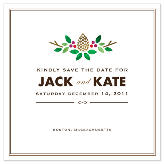 save the date cards - Winter Branches by Kristen Smith