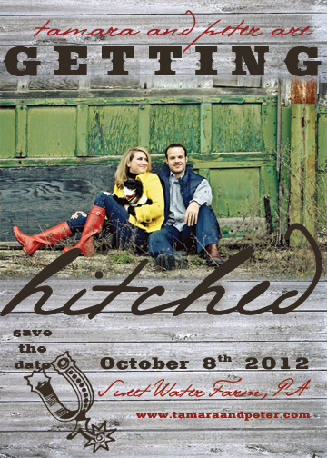 save the date cards - rusty hitch by melody appel