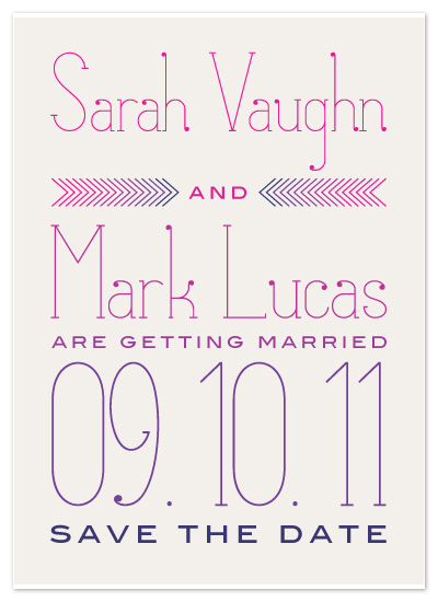 save the date cards - Arrow Save the Date by Avie Designs