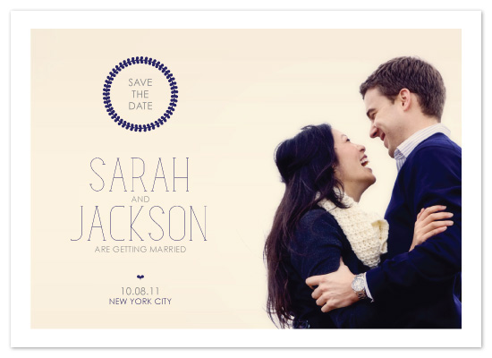 save the date cards - Wreath Photo Save the Date by Avie Designs