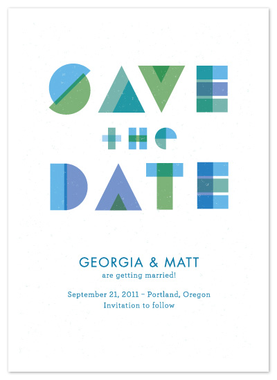 save the date cards - Beach Glass by Annemieke